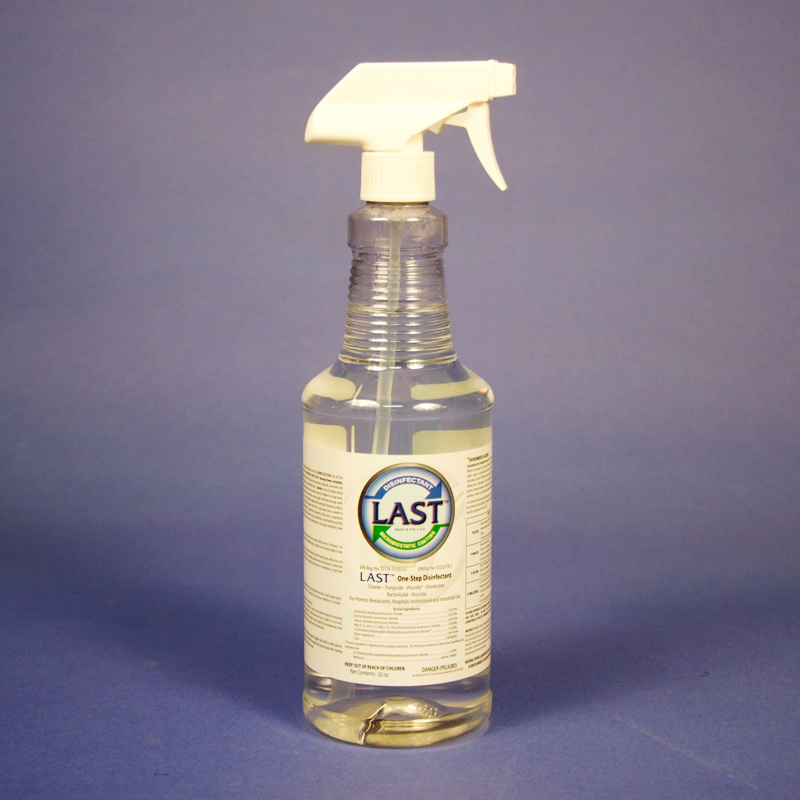 32oz Spray Bottle of LAST One-Step Disinfectant